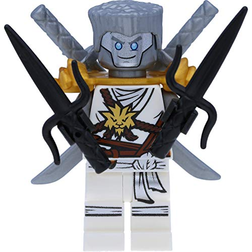 LEGO Ninjago - Figura de Zane en túnica de honor con hombreras y espadas (día de la memoria)
