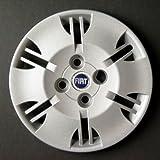 4x 60mm Fiat Centro De Rueda Caps Tapacubos Conjunto de 4 Plata Azul con el logotipo de 3D Calidad Superior