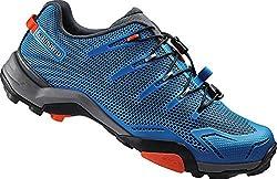 Shimano unisex adult cycling shoes MT cycling shoes SH-MT44B GR. 38 SPD Lacing Speed Lacing Cycling Shoes Mountain Bike, Blue (Lightning Blue)
