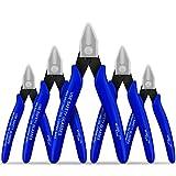 Alicates Usongshine Cortadores de cable de alambre eléctrico Alicates de corte al ras de corte Alicates de corte diagonal (Página de 5, Azul)
