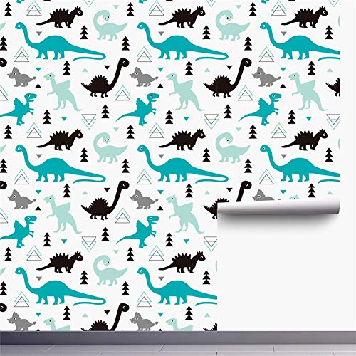 Insun Papel Pintado Autoadhesivo para Muebles Puerta Pared Cocina Dinosaurios lindos 2 45x300cm