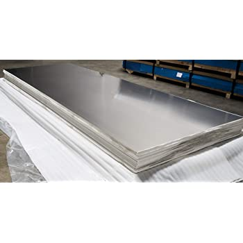 "22 GA   24/"" X 48/"" 304 BRUSHED STAINLESS SHEET W//PVC"