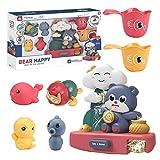 Juguete para baño de bebé, juguete de baño para niños de 1 a 5 años de edad, regalo interesante para niños, juego de juguetes para el baño, juego de piscina para divertirse en verano