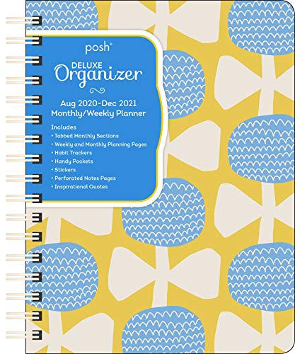 Posh: Deluxe Organizer 17-Month 2020-2021 Monthly/Weekly Planner Calendar: Blossoms and Bows