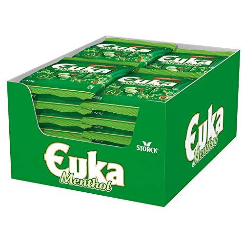 Euka Menthol (15 x 425g) / Aromatisch-milde Lutschbonbons mit Eukalyptus