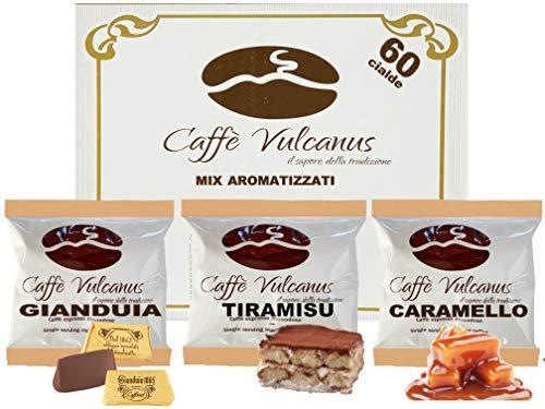 Caffè Vulcanus - Kit degustación 60 monodosis de café aromatizado ESE44 -...