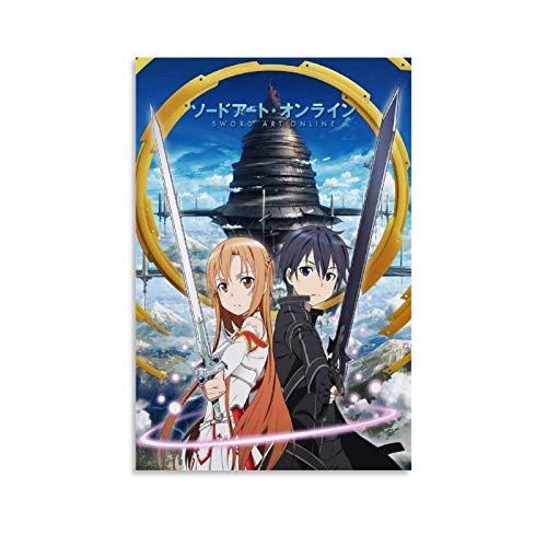 Anime-Poster, Schwert-Art, Online-Poster, dekoratives Gemälde, Leinwand, Wandkunst, Wohnzimmer, Poster, Schlafzimmer, Malerei, 20 x 30 cm