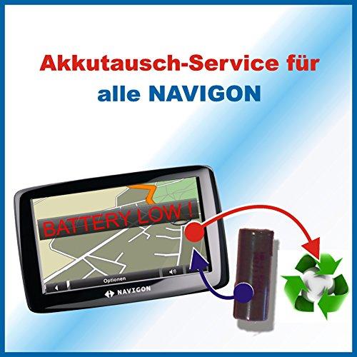 Premium-Akkutausch für Navi / Navigationsgerät Navigon mit vorab zugesendetem Versandmaterial *Akkutauschen.de ist ausgezeichnet mit dem Qualitätssiegel Werkstatt N des Rates für Nachhaltige Entwicklung*