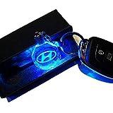 VILLSION LED Hyundai Portachiavi Colori Che cambiano Auto Portachiavi LED Accessori Ciondolo Interni Auto