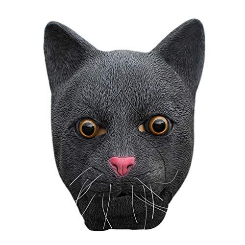 Holibanna máscara de Gato Negro máscara de Cabeza de Animal de látex de Halloween