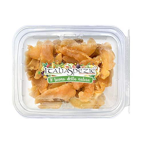 ITALIA SPEZIE - Zenzero disidratato 100% Naturale a Fette 250 g - PRIMA SCELTA - Essiccato al naturale - senza solfiti aggiunti - Confezione Richiudibile Salva Freschezza - frutta disidratata