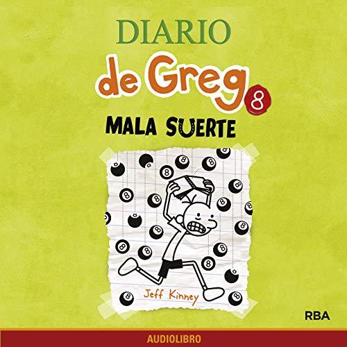 Diseño de la portada del título Diario de Greg 8. Mala suerte