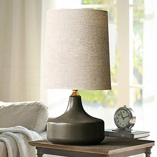 Lampe de table chambre lampe de chevet salon chambre modèle nordique minimaliste simple moderne européenne gris designer A+ (Color : Black)