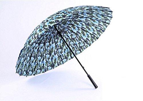 GTWP GT Regenschirm Manual Mode, Business, Langer Griff Verstärkung Camouflage Regenschirm Stockschirm Robuste Winddicht Anti-UV SPF 40+ Sonnenschutz Sonne Regen Schirm