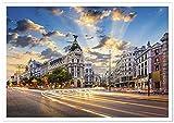 Panorama Poster Gran Via Madrid 100 x 70 cm - Gedruckt auf