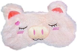 Masque de sommeil Monbedos en peluche douce sur le thème des cochons - Masque de sommeil confortable et léger - Pour voyag...