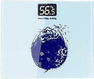 Báscula de Peso del Cuerpo Humano Báscula de baño de Peso Inteligente Báscula de Peso Inteligente Bluetooth Báscula Digital Inteligente en Red Duradera (Color: 05)
