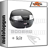 kappa maleta k35nt 35 lt + portaequipaje monolock compatible con triumph bonneville t100 2020 20