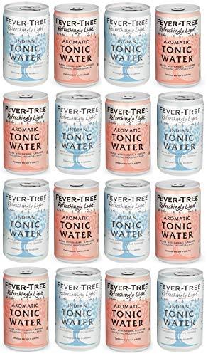 Fever-Tree Refreshingly Light Aromatic Tonic Water & Refreshingly Light Tonic Water Cans 150ml - Mixed Pack x 16