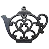 Teapot Trivet - Black Cast Iron - for Kitchen & Dining Table - More...