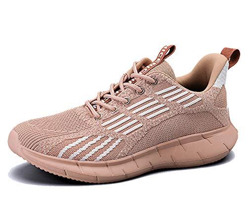 AX BOXING Herren Damen Sportschuhe Laufschuhe Sneaker Atmungsaktiv Leichte Wanderschuhe Trainers Schuhe Größe 40-46 (Hellbraun A, Numeric_43)