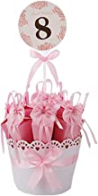 Decorative Candy Box Wedding Party Favor Gift Box, Deep Pink Box + Pink Bow