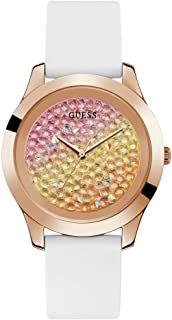 GUESS Womens Quartz Watch, Analog Display and Silicone Strap - W1223L3