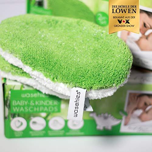 waschies® KIDS 6er Set Waschpads für Babys und Kinder | Waschlappen aus feinstem Fasermix - Mikrofaser und Viskose - schonende und gründliche Reinigung | Umweltfreundlich und nachhaltig nur mit Wasser