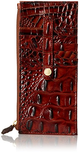 Brahmin Credit Card Wallet, Pecan, One Size