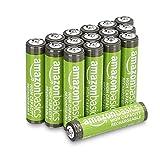 Amazon Basics - Batterie AAA ricaricabili, ad alta capacità, 850 mAh (confezione da 16), ...