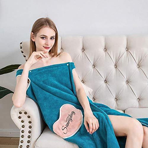 Vestido para mujer, toallas de baño de moda Lady Girls Wearable secado rápido toalla de baño mágica falda de playa para vacaciones