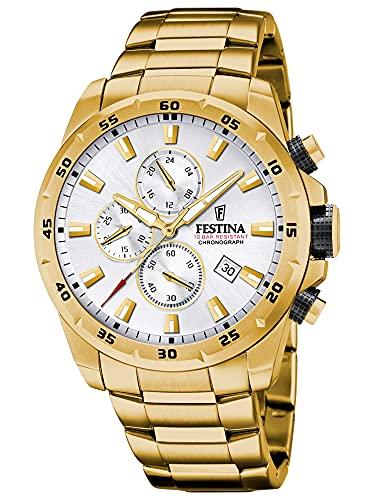 Festina Herren Analog Quarz Uhr mit Edelstahl Armband F20541/1