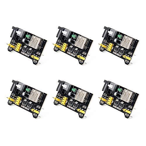 Jolicobo 6Pcs Breadboard-Stromversorgungsmodul für Board lötfreie Breadboard, 3,3 V / 5 V