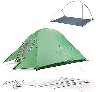 Uppgraderat Cloud Up 2 ultralätt tält fristående 20D tyg campingtält för 2 personer med gratis matta -210T grön, Brasilien