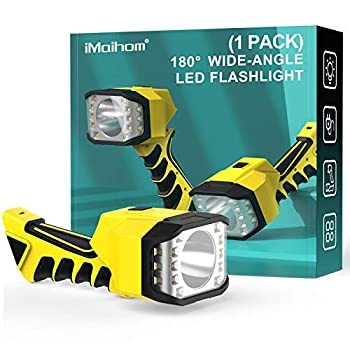 iMaihom Rechargeable LED Searchlight Portable Wide-Angle Flashlight Super Bright Handheld Flashlight 4400mAh Power Bank 4 Modes Electric Torch 1300 Lumen Spotlight for Repairing Emergency