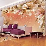 Papel tapiz fotográfico 3D personalizado Mural de flores moderno Papel de pared Sala de estar Sofá TV Fondo Papel tapiz no tejido Dormitorio