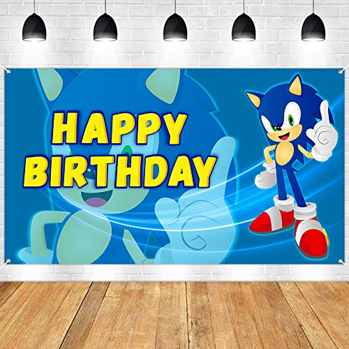 Sonic the Hedgehog Birthday Backdrop