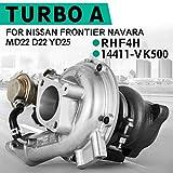 PANDAKK Turbocompresseur RHF4H 14411 Vk500 pour Ni-ssan Na-vara avant 2.5Di Md22 D22 Yd25