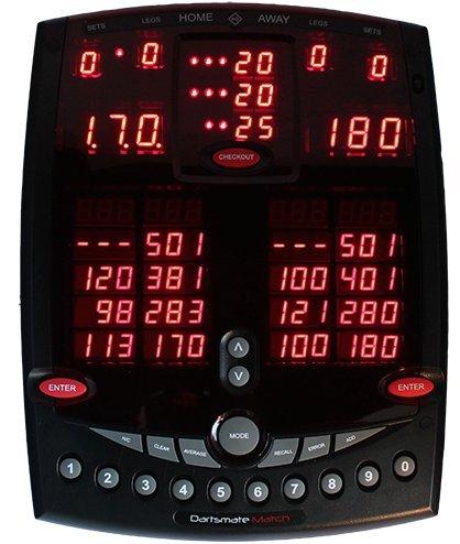 PerfectDarts Dartsmate Match Elektronischer Punktezähler Anzeigetafel