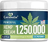 Hemp Cream - Made in USA - Soothing Cream with Turmeric, MSM & Arnica - Eases Discomfort in Muscles, Joints, Back, Knee & Nerves - Non-GMO & Cruelty-Free