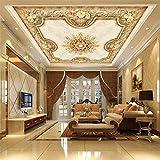 Benutzerdefinierte 3d Wandbild Europäischen pastoralen Decke Hotel Wohnzimmer Esszimmer Decke Dach Tapete Papel de Parede Wandbilder Fototapete effekt-250x200CM