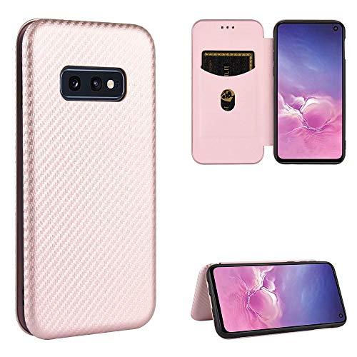 Miagon Galaxy S10e Brieftasche Hülle mit Kohlefaser Textur,PU Leder Schutzhülle mit Kartenfach Handyhülle Tasche Etui Folio Flip Cover Case Tasche für Samsung Galaxy S10e