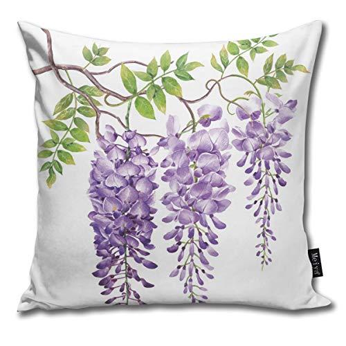QUEMIN En el Estanque Carp Lotus 3D Fondo Throw Pillows Cover 15,7 x 15,7 Pulgadas Funda de cojín de algodón para la decoración del hogar de Verano
