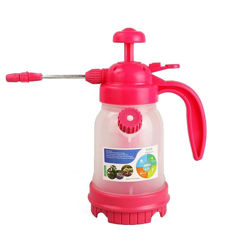 懺悔ルアーベッツィトロットウッドBESTOMZ 庭の植物の園芸工具に水をまくための庭のポンプスプレーの水まき缶のプラスチックスプレーのびん(1. 2Lバラ色)