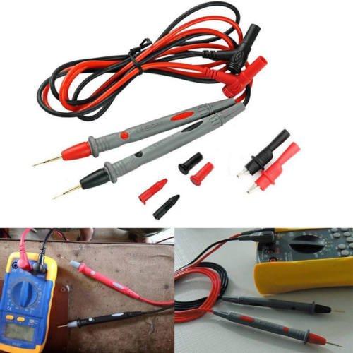 20A Probe Test Lead + Alligator Clips Agilent/Fluke/Ideal Clamp Cable Multimeter