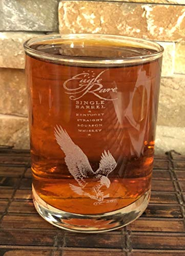 EAGLE RARE 10 YEAR OLD KENTUCKY STRAIGHT BOURBON Collectible Whiskey Glass 14 Oz