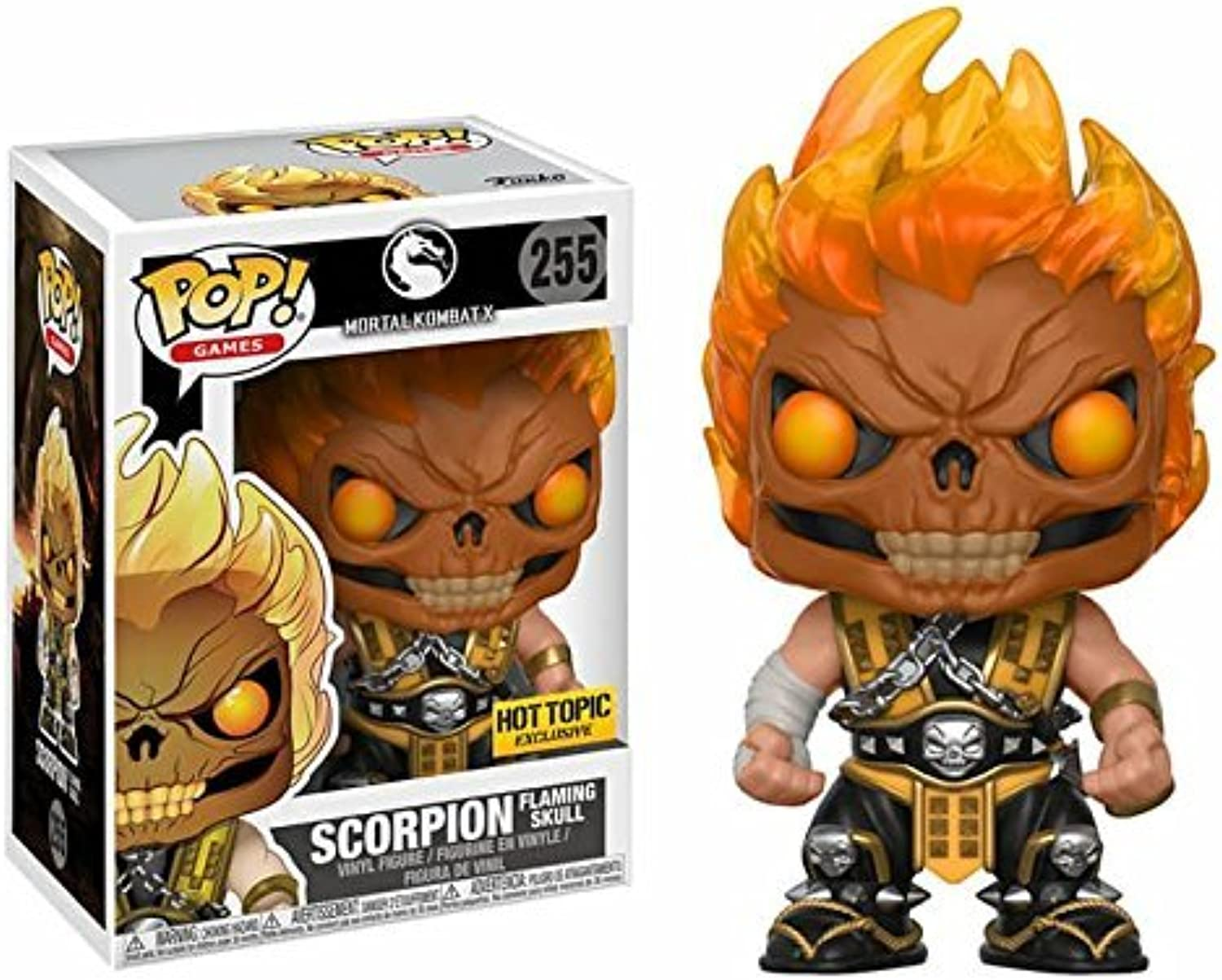 Mortal Kombat X  Scorpion (Flaming Skull) Pop  Vinyl Figure