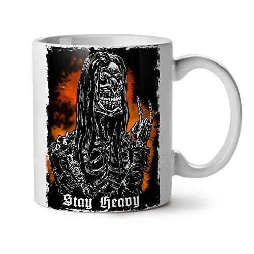 AICUP Heavy Metal Skull White Tea Taza De Café Taza De Cerámica Taza Taza De Café Tazas De Té Cerveza Viaje Leche TazaDecoración del Hogar Novedad Amigo Regalo Regalos De Cumpleaños