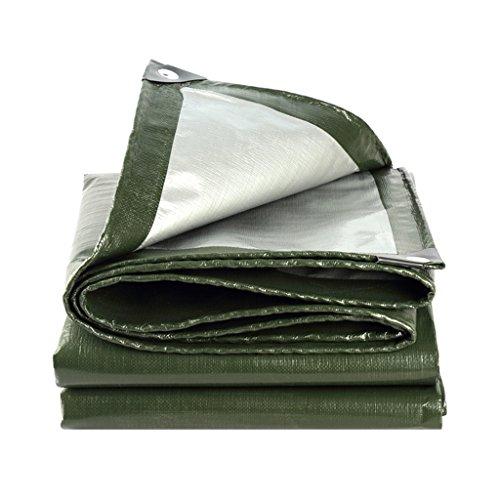 LLRDIAN Lona Impermeable Protector solar Cubierta for lluvia gruesa Sombrilla Paño for la lluvia Pabellón de plástico Pintura al óleo Camión Camión Cobertizo Gris plata + Grosor verde oscuro 0.35mm, 1