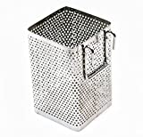 Kitchen Utensil Chopsticks Perforated Holder with Hooks - Stainless Steel - Dishwasher Safe - Small Square...